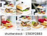 english high tea set | Shutterstock . vector #158392883