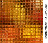 Abstract Golden Autumn Mosaic