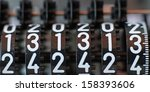 Stock photo lucky counter with all thirteen numbers in sequence 158393606