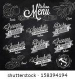 menu italian the names of... | Shutterstock .eps vector #158394194
