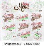 menu italian the names of... | Shutterstock .eps vector #158394200
