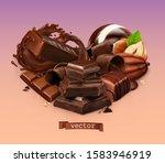 Realistic Chocolate. Chocolate...