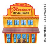 mexican restaurant isolated... | Shutterstock .eps vector #1583963953