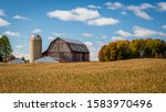 Autumn Barns And Foliage In Fall
