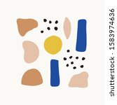 colorful abstract shapes flat... | Shutterstock .eps vector #1583974636
