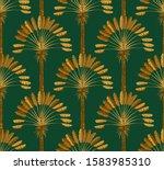 ornament of golden palm trees...   Shutterstock .eps vector #1583985310