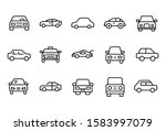 modern thin line icons set of... | Shutterstock .eps vector #1583997079