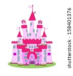 Pink Castle   Vector
