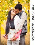 couple kissing outdoor in the... | Shutterstock . vector #158402069