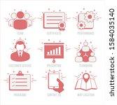 business web playful icons set