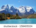 national park torres del paine ... | Shutterstock . vector #158405324