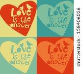 cute vector love cards | Shutterstock .eps vector #158406026
