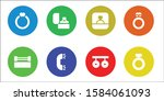 ceremonial icon set. 8 filled... | Shutterstock .eps vector #1584061093