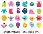 cute and kawaii monster kids... | Shutterstock .eps vector #1584081493