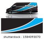 van car decal wrap design vector | Shutterstock .eps vector #1584093070