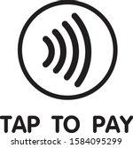 contactless nfc wireless pay... | Shutterstock .eps vector #1584095299