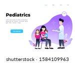 pediatric clinic. clinical...   Shutterstock .eps vector #1584109963