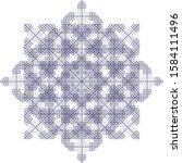 abstract geometric ornamental... | Shutterstock .eps vector #1584111496