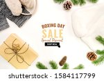 boxing day sale with christmas... | Shutterstock . vector #1584117799