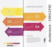design clean number banners...   Shutterstock .eps vector #158411930