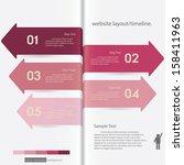 design clean number banners...   Shutterstock .eps vector #158411963