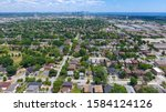 Aerial View Of A Residential...