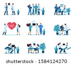 large set of 2d concepts of... | Shutterstock .eps vector #1584124270