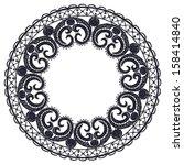 round openwork lace border.... | Shutterstock . vector #158414840