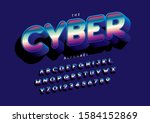 vector of stylized modern font... | Shutterstock .eps vector #1584152869