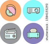 4 icon set of electronic...