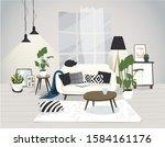 modern trendy scandinavian... | Shutterstock .eps vector #1584161176
