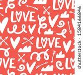 valentine's day seamless... | Shutterstock .eps vector #1584166846