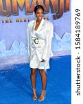 "Small photo of LOS ANGELES, USA. December 10, 2019: Kelly Rowland at the world premiere of ""Jumanji: The Next Level"" at the TCL Chinese Theatre. Picture: Paul Smith/Featureflash"