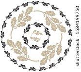 oak leaf and acorn design. oak...   Shutterstock .eps vector #1584199750