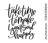 calligraphy mental health quote.... | Shutterstock .eps vector #1584208840