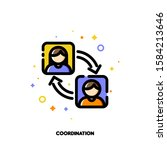 team coordination icon for... | Shutterstock .eps vector #1584213646