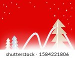 christmas background with trees.... | Shutterstock . vector #1584221806