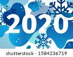 horizontal abstract geometric... | Shutterstock .eps vector #1584236719