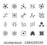 molecule flat glyph icons set.... | Shutterstock .eps vector #1584239239
