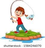 illustration of cartoon happy... | Shutterstock .eps vector #1584246070