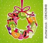 go vegan card design... | Shutterstock .eps vector #158424848