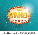 winner retro banner with... | Shutterstock .eps vector #1584250420