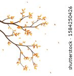 autumn season with falling... | Shutterstock . vector #1584250426