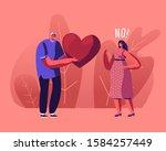 Unrequited Love Concept. Lovin...