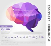 brain banner and business icon... | Shutterstock .eps vector #158427038