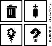 4 set of basic elements icons...
