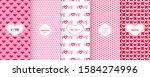 love heart patterns. set of... | Shutterstock .eps vector #1584274996