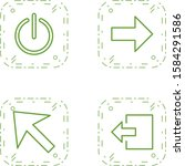 4 basic elements icons sheet...