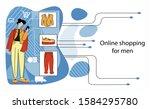 vector illustration with modern ...   Shutterstock .eps vector #1584295780