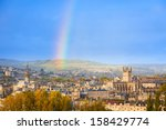 end of a rainbow in the sky... | Shutterstock . vector #158429774